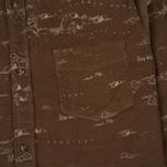 Мужская рубашка Uniformes Generale Stay Wild Baby Cord Tan фото- 2