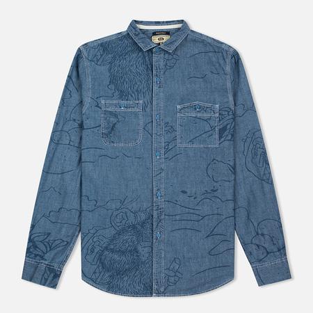 Uniformes Generale Stay Wild Chambray Men's Shirt Vintage Indigo