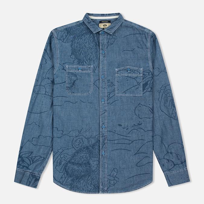 Мужская рубашка Uniformes Generale Stay Wild Chambray Vintage Indigo