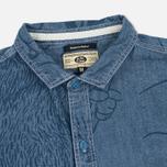 Мужская рубашка Uniformes Generale Stay Wild Chambray Vintage Indigo фото- 1
