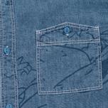 Мужская рубашка Uniformes Generale Stay Wild Chambray Vintage Indigo фото- 2