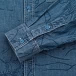 Мужская рубашка Uniformes Generale Stay Wild Chambray Vintage Indigo фото- 3