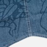 Мужская рубашка Uniformes Generale Stay Wild Chambray Vintage Indigo фото- 5