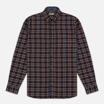 Мужская рубашка Uniformes Generale Toikka Check Brushed Brown/Indigo/Rust Check фото- 0