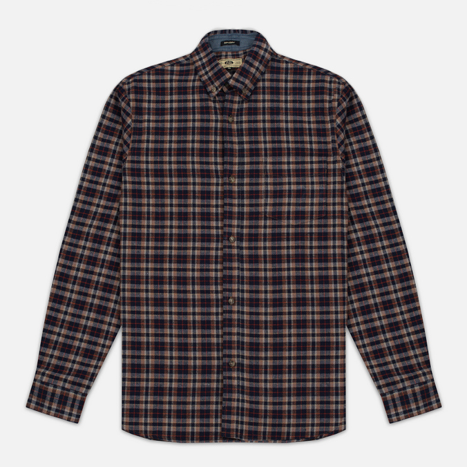Мужская рубашка Uniformes Generale Toikka Check Brushed Brown/Indigo/Rust Check