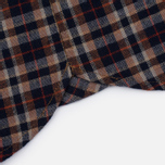 Мужская рубашка Uniformes Generale Toikka Check Brushed Brown/Indigo/Rust Check фото- 6