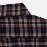 Мужская рубашка Uniformes Generale Toikka Check Brushed Brown/Indigo/Rust Check фото- 7