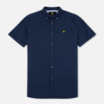 Мужская рубашка Lyle & Scott SS Plain Oxford Navy фото- 0