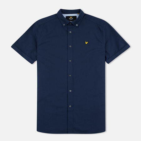 Мужская рубашка Lyle & Scott SS Plain Oxford Navy