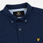 Мужская рубашка Lyle & Scott SS Plain Oxford Navy фото- 1
