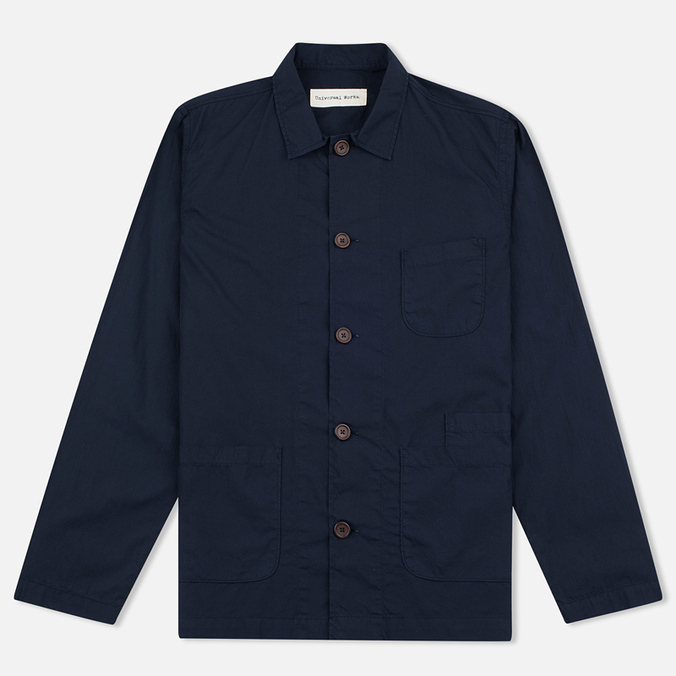 Мужская рубашка Universal Works Bakers Poplin Navy
