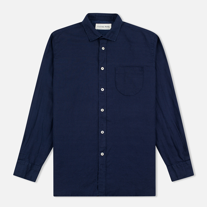 Мужская рубашка Universal Works Classic Denim Linen Indigo