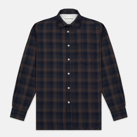 Universal Works Classic Urban Neck Men's shirt Navy/Brown
