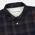 Мужская рубашка Universal Works Classic Urban Neck Navy/Brown фото- 1