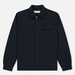 Мужская рубашка Universal Works Military Work Twill Navy фото- 0