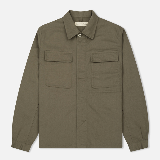 Мужская рубашка Universal Works Military Work Twill Olive