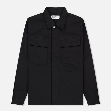 Мужская рубашка Universal Works MW Chore Overshirt Twill Black