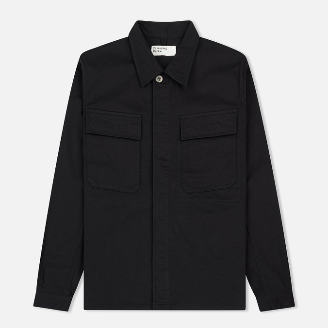 Мужская рубашка Universal Works MW Chore Overshirt Twill Black