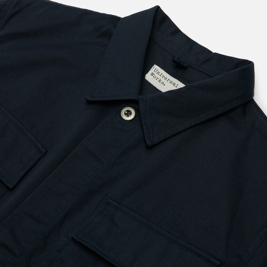 Мужская рубашка Universal Works MW Chore Overshirt Twill Navy