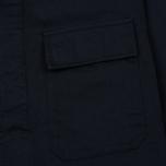 Мужская рубашка Universal Works MW Chore Overshirt Twill Navy фото- 2