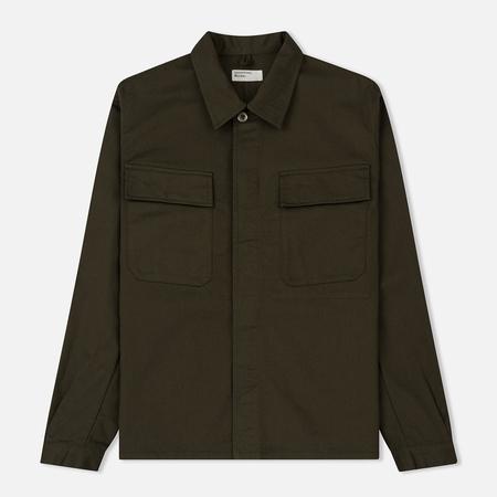 Мужская рубашка Universal Works MW Chore Overshirt Twill Olive