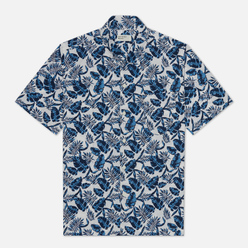 Мужская рубашка Universal Works Open Collar Japanese Flower Blue