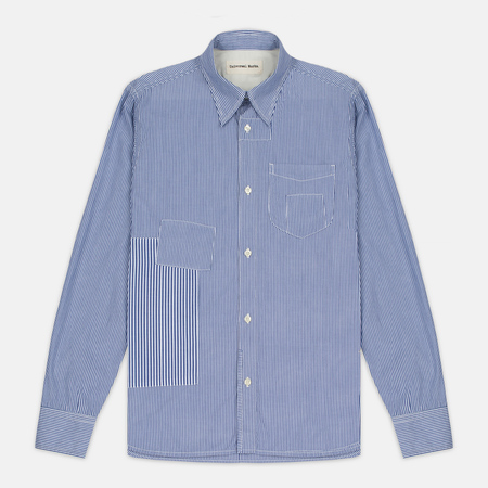 Мужская рубашка Universal Works Patch Fine Stripe Blue