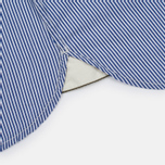 Universal Works Patch Fine Men's shirt Stripe Blue photo- 4