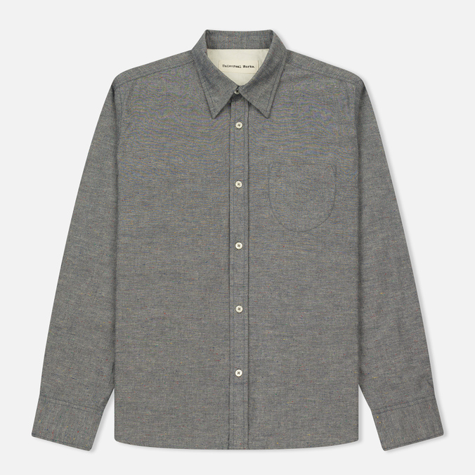 Мужская рубашка Universal Works Point Collar Nep Chambray Indigo