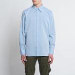 Мужская рубашка Universal Works Point Collar Plain Weave Cotton Blue фото- 5