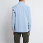 Мужская рубашка Universal Works Point Collar Plain Weave Cotton Blue фото- 6