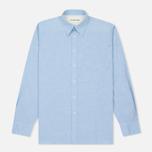 Мужская рубашка Universal Works Point Collar Plain Weave Cotton Blue фото- 0