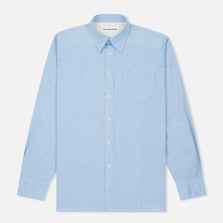 Мужская рубашка Universal Works Point Collar Plain Weave Cotton Blue