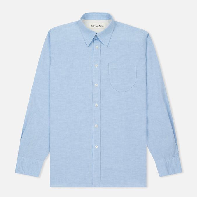 Мужская рубашка Universal Works Point Collar Plain Weave Cotton Blue