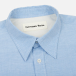 Мужская рубашка Universal Works Point Collar Plain Weave Cotton Blue фото- 1