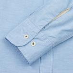Мужская рубашка Universal Works Point Collar Plain Weave Cotton Blue фото- 3
