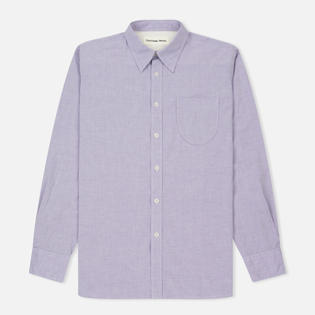 Мужская рубашка Universal Works Point Collar Plain Weave Cotton Mist