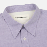 Мужская рубашка Universal Works Point Collar Plain Weave Cotton Mist фото- 1