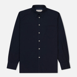 Мужская рубашка Universal Works Point Collar Poplin Navy фото- 0
