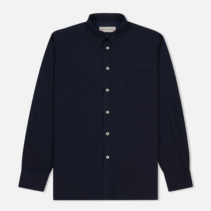 Мужская рубашка Universal Works Point Collar Poplin Navy