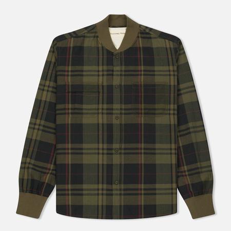 Мужская рубашка Universal Works Sport Madras Check Olive