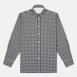 Universal Works Standard Funk Check Men's shirt  Black/White photo- 0