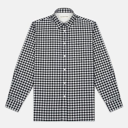 Мужская рубашка Universal Works Standard Funk Check Black/White