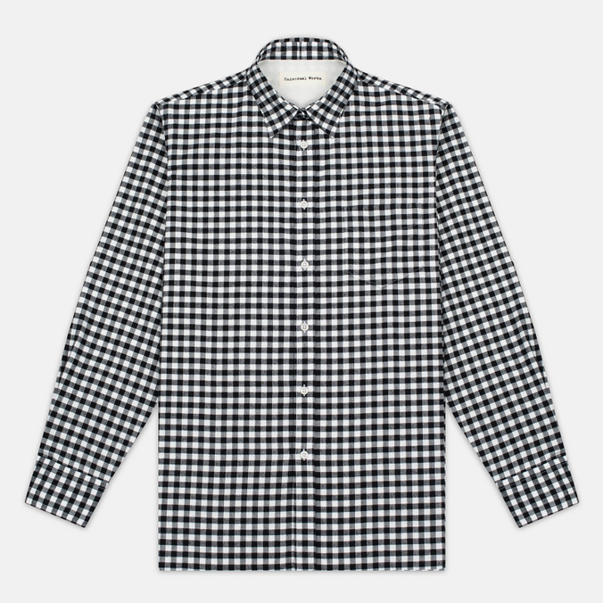 Universal Works Standard Funk Check Men's shirt  Black/White