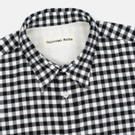 Universal Works Standard Funk Check Men's shirt  Black/White photo- 1