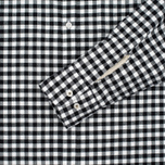 Universal Works Standard Funk Check Men's shirt  Black/White photo- 3