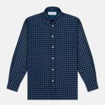 Universal Works Standard Funk Check Men's shirt Blue photo- 0