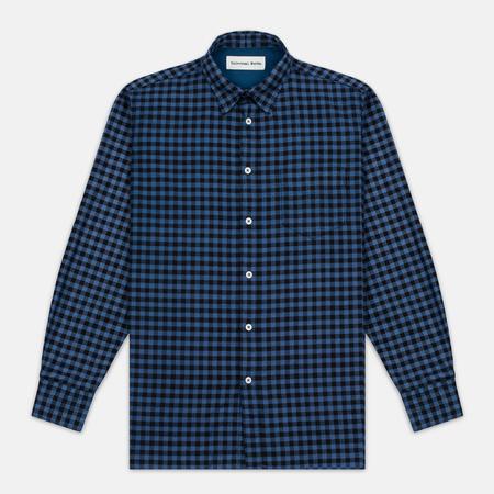 Мужская рубашка Universal Works Standard Funk Check Blue