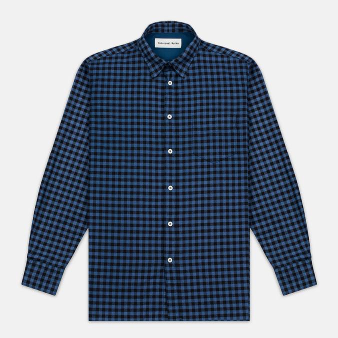 Universal Works Standard Funk Check Men's shirt Blue