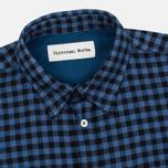 Universal Works Standard Funk Check Men's shirt Blue photo- 1